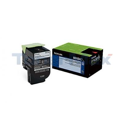 LEXMARK CX510 TONER CARTRIDGE BLACK RP 2.5K